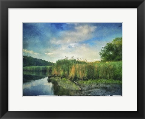 Framed Rivers Edge Painted With Border Print