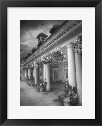 Framed Hotel BW with Border Print