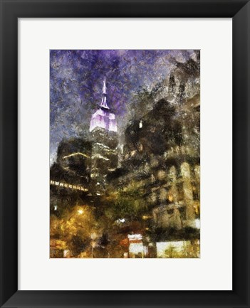 Framed Manhattan Painted Print