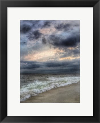 Framed Beach Sunset Watercolor Border Print
