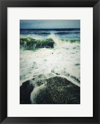 Framed Wave Curl Painting With Border Print