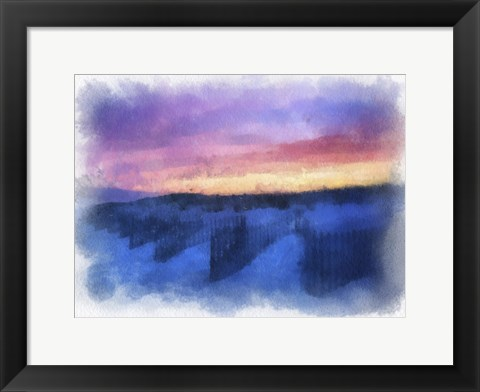 Framed Beach Colors Watercolor Print