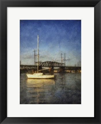 Framed Sailboat Painted With Border Print