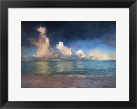 Framed Beach Wave Painted With Border Print