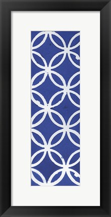 Framed Blue Chained Circles Print