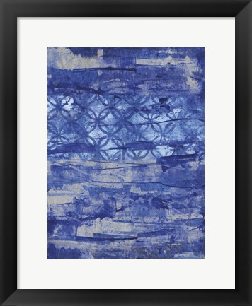 Framed Abstract Ocean Print