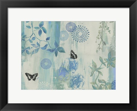Framed Dazed Butterflies Print