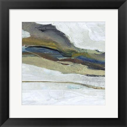Framed Soothing Abstract 1 Print
