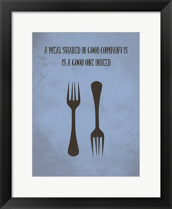 Framed Meal Indeed Print