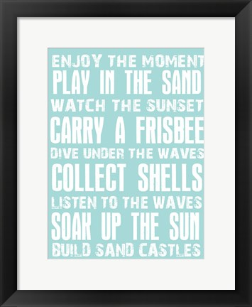 Framed Sandy And Warm Print