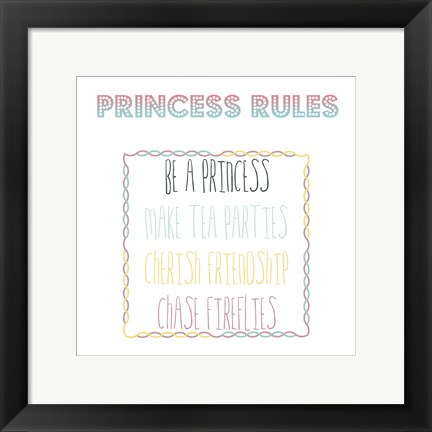 Framed Princess In Training Print