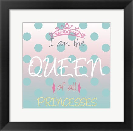 Framed Princess Queen Print