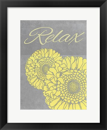 Framed Spa Flower 2 Print