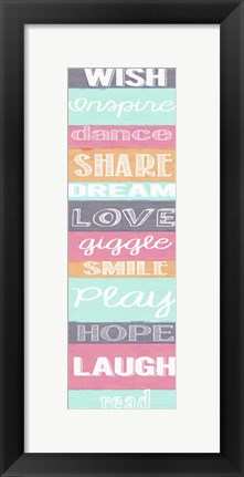 Framed Wish Stripes Print