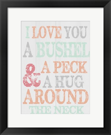 Framed Bushel And A Peck Print