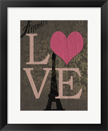Framed Love Is Sweet Print