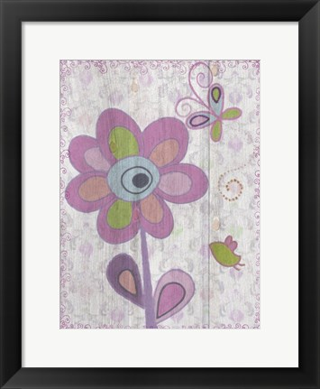 Framed Boho Flower I Print
