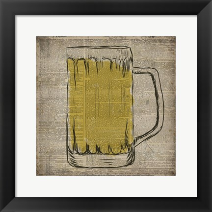 Framed Dictionary Beer Print