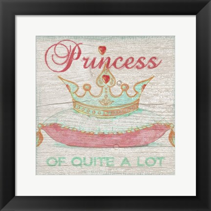 Framed Princess 2 Print