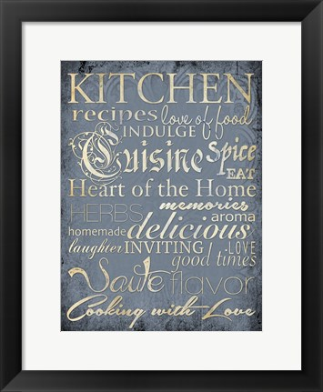 Framed Kitchen 1 Print