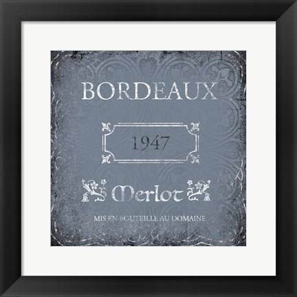 Framed Wine Label 2 Print