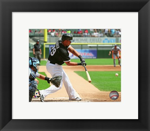 Framed Jose Abreu 2015 Action Print
