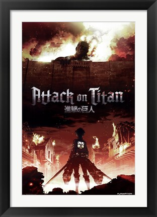 Framed Attack on Titan - Fire Print