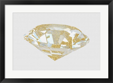 Framed Gold Diamond 1 Print