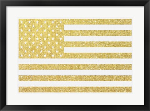 Framed Gold Flag 3 Print
