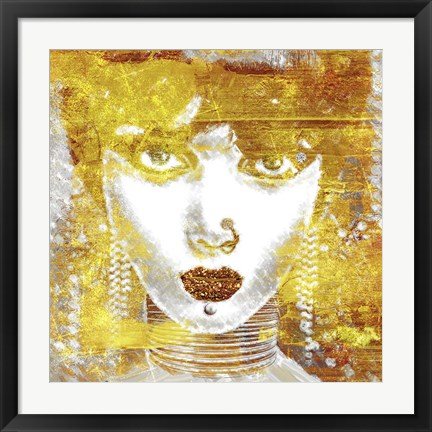 Framed Gold Girl Print