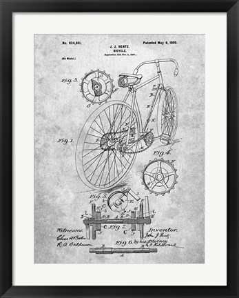 Framed Bicycle A Print