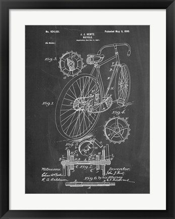 Framed Bicycle D Print
