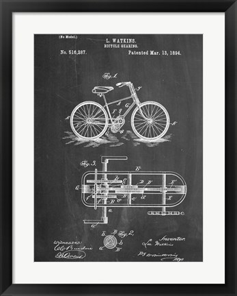 Framed Bicycle E Print