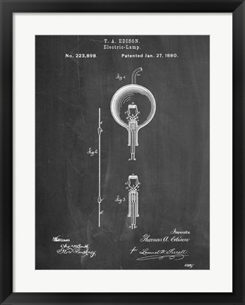 Framed Light Bulb Edison Print