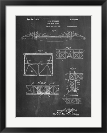 Framed Long Span Bridge Print