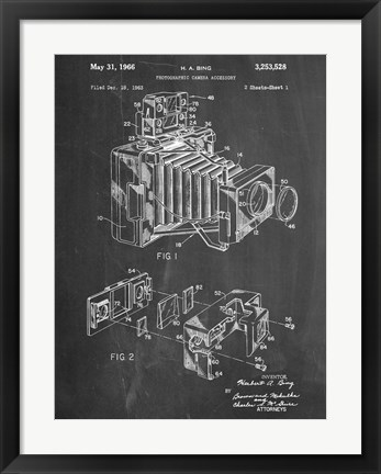 Framed Photographic Camera Accessory Print