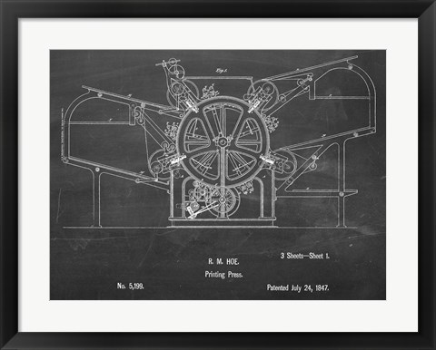 Framed Printing Press Print