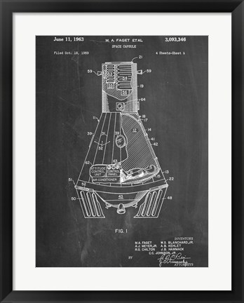 Framed Space Capsule Print