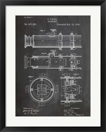 Framed Telescope Print