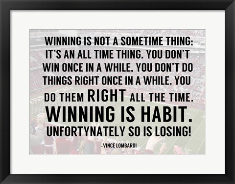 Framed Winning is Habit Print