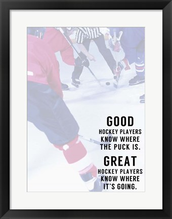 Framed Great Hockey Player Print