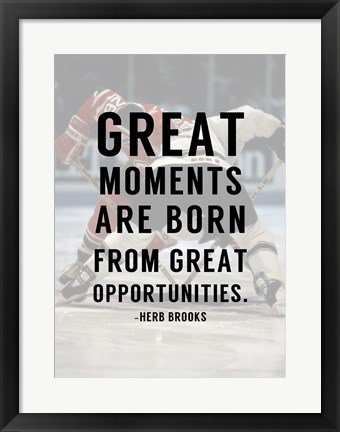 Framed Great Moments Print