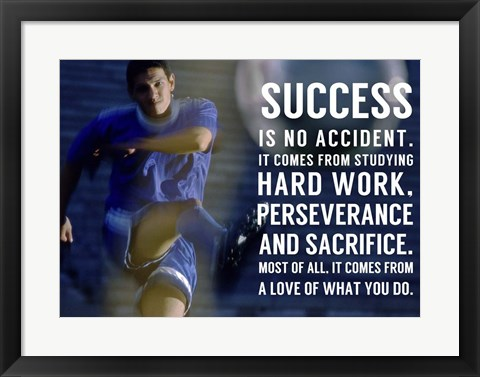 Framed Success is No Accident Print