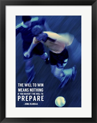 Framed Will to Win Print