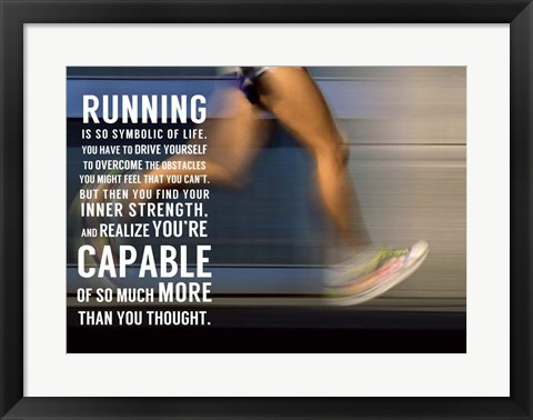 Framed Running Print