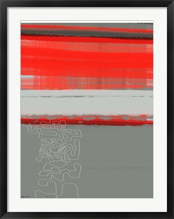 Framed Abstract Red 1 Print