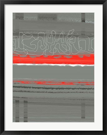 Framed Abstract Red 3 Print