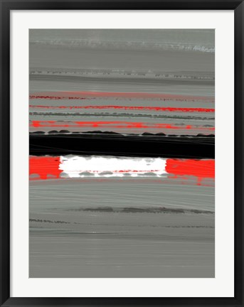 Framed Abstract Red 4 Print