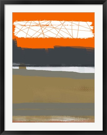 Framed Abstract Orange 1 Print