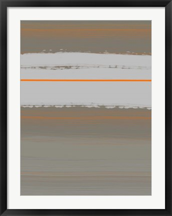 Framed Abstract Orange 4 Print